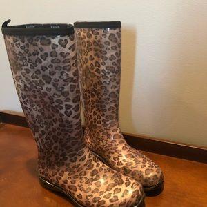 Shoes - Cheetah Rain Boots